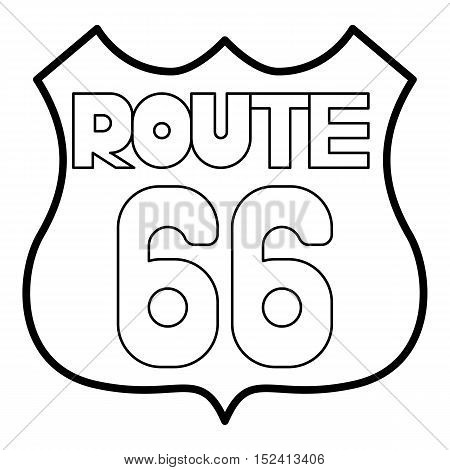 Sign route icon. Outline illustration of sign route vector icon for web design