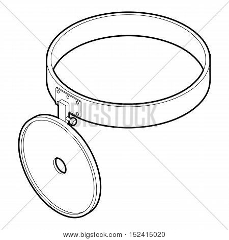Headlamp reflector icon. Outline illustration of headlamp reflector vector icon for web