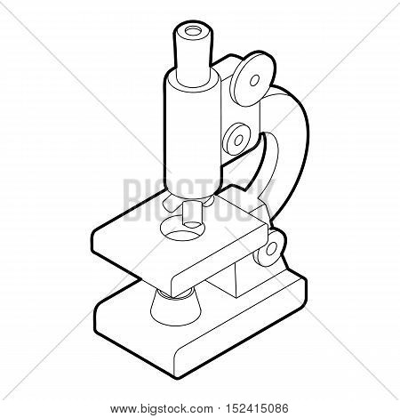 Microscope icon. Outline illustration of microscope vector icon for web