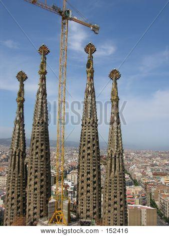 Cathedral Sagrada Familia In Barcelona