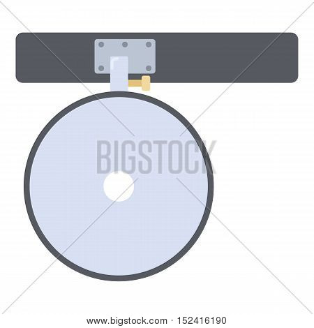 Headlamp reflector icon. Flat illustration of headlamp reflector vector icon for web