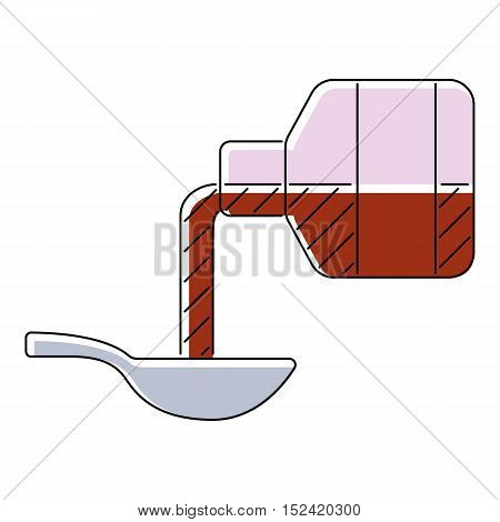 Medical syrup icon. Flat illustration of medical syrup vector icon for web isolated on white background