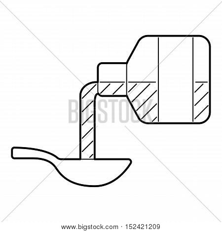 Medical syrup icon. Outline illustration of medical syrup vector icon for web isolated on white background