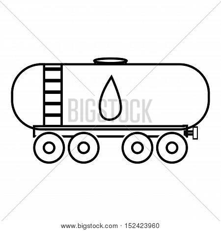 Waggon for gasoline icon. Outline illustration of waggon for gasoline vector icon for web