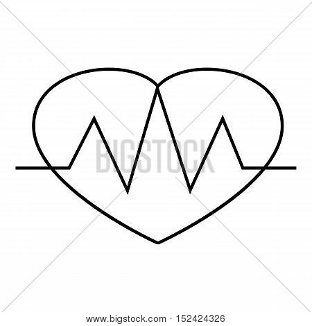 Heartbeat icon. Outline illustration of heartbeat vector icon for web
