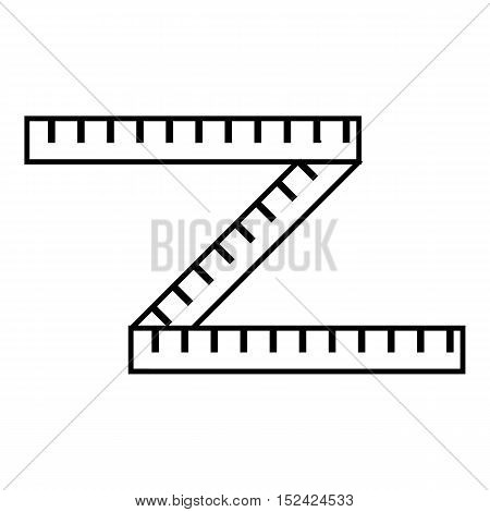 Measuring tape icon. Outline illustration of measuring tape vector icon for web