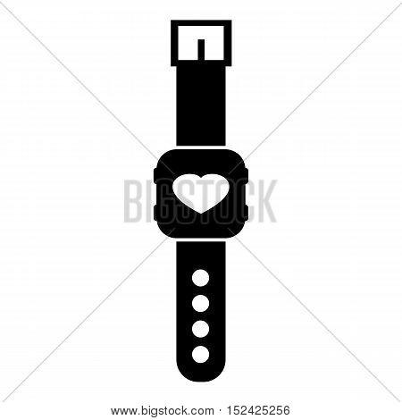 Fitness smart bracelet icon. Simple illustration of fitness smart bracelet vector icon for web
