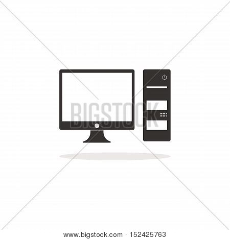 Computer icon, Computer set , Office Computer