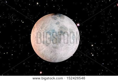 illustration of a moon on a starry sky