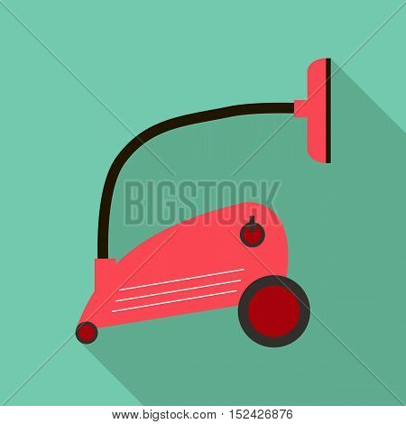 Vacuum cleaner icon. Flat illustration of vacuum cleaner vector icon for web