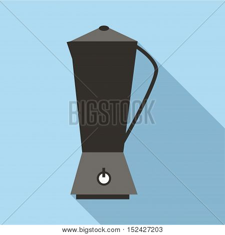 Metal electric kettle icon. Flat illustration of metal electric kettle vector icon for web