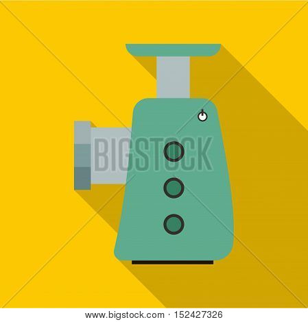 Electric grinder icon. Flat illustration of electric grinder vector icon for web