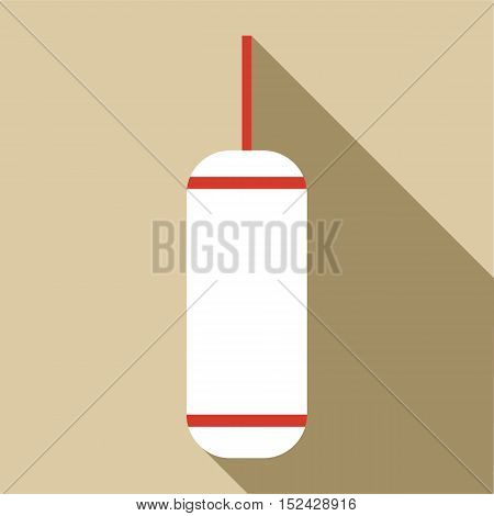 Punching bag icon. Flat illustration of punching bag vector icon for web