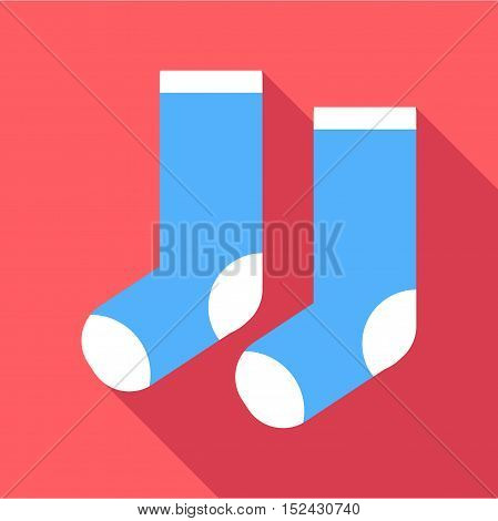 Christmas socks icon. Flat illustration of christmas socks vector icon for web