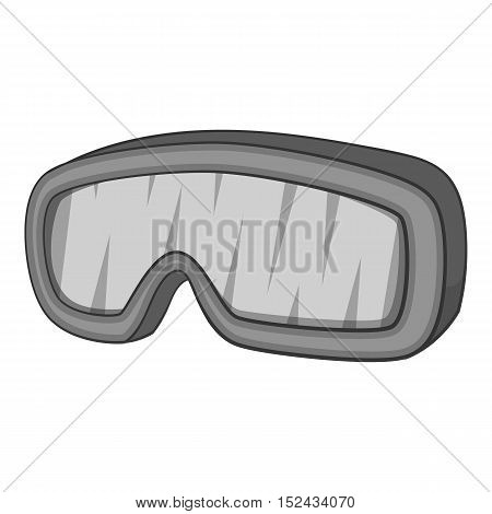 Glasses for snowboarding icon. Gray monochrome illustration of glasses for snowboarding vector icon for web