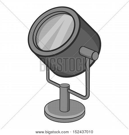 Spotlight icon. Gray monochrome illustration of spotlight vector icon for web