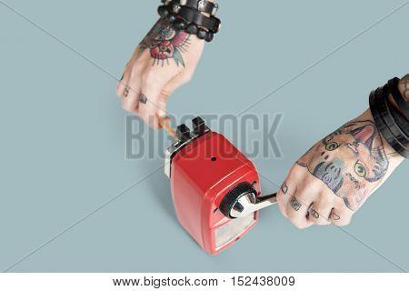 Tattoo Pencil Sharpener Graphite Supply Tool Concept