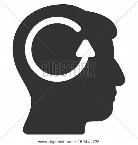 Refresh Head Memory vector icon. Style is flat graphic symbol, gray color, white background.