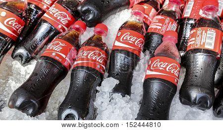 Coca Cola Soft Drink On Ice