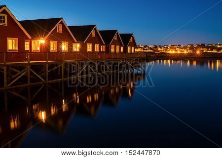 Cityscape of small village in northern Norway