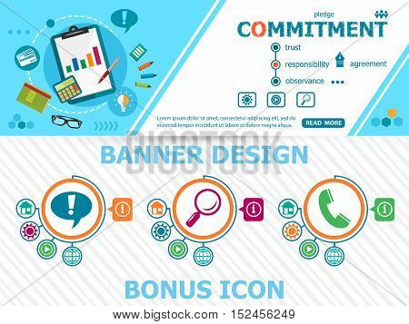 Commitment Concepts And Abstract Cover Header Background For Website Design.