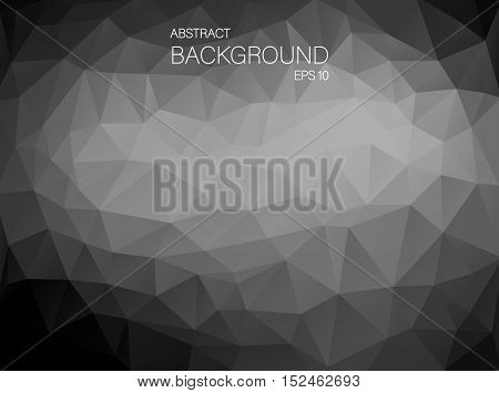 Abstract Black and white triangle shapes. Art Vector backgound for your design