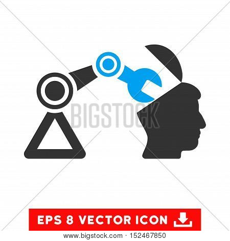 Open Head Surgery Manipulator EPS vector icon. Illustration style is flat iconic bicolor blue and gray symbol on white background.
