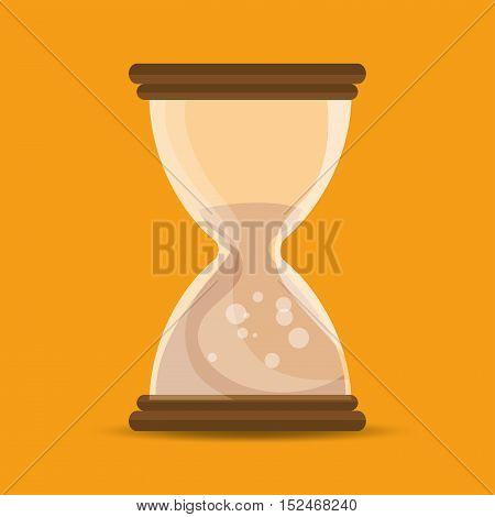 sand clock time school education online symbol vector illustration