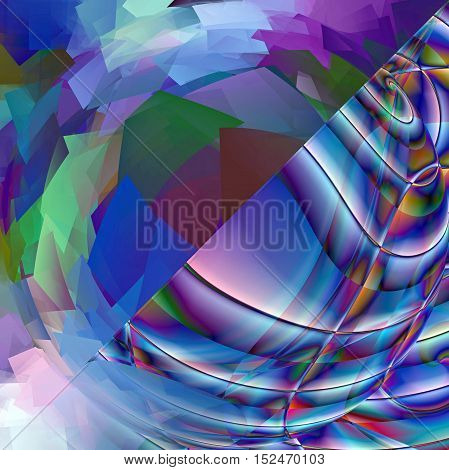 Abstract coloring background of the horizon gradient with visual spherize,pinch,lighting and pagecurl effects