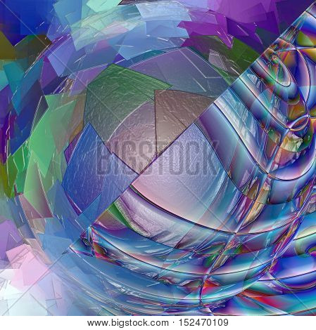 Abstract coloring background of the horizon gradient with visual spherize,pinch,plastic wrap,pagecurl and lighting effects