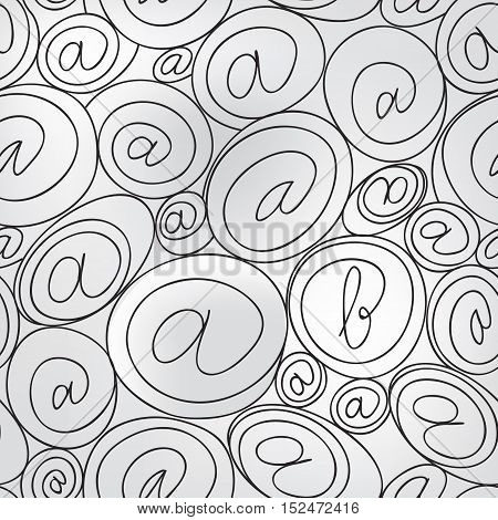 e-mail sign seamless background. email or spam mail pattern concept.