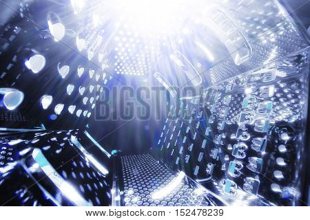 abstract background in the form of luminous flux at a space warp acceleration