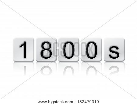 1800S Isolated Tiled Letters Concept And Theme