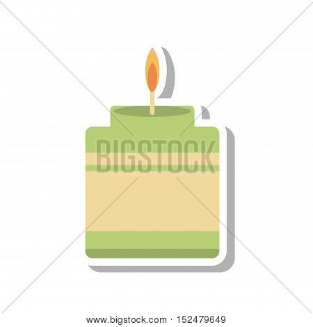 aromatherapy candle spa isolated icon vector illustration design