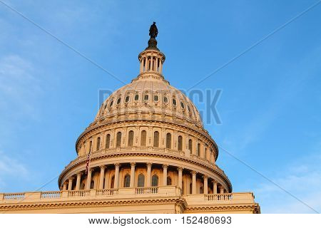 United States Capitol Building in Washington, District of Columbia, USA
