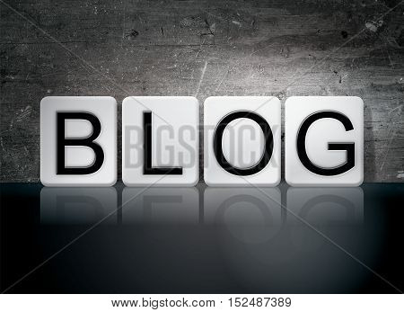 Blog Tiled Letters Concept And Theme