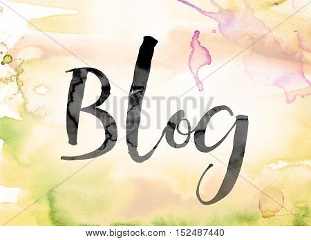 Blog Colorful Watercolor And Ink Word Art