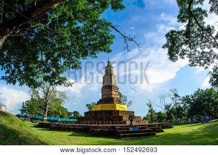 PhatadYaku at Kamalasai Kalasin ThailandThailand Bhudda temple Stupa Kalasin landmarkTemple in Kalasin Thailand; PhatadYaku (Temple)