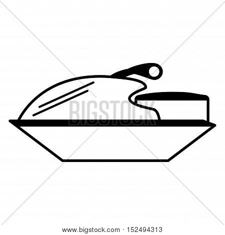 jetski vehicle isolated icon vector illustration design