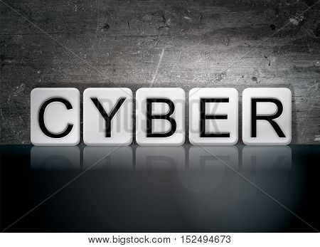 Cyber Tiled Letters Concept And Theme