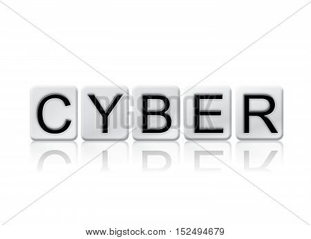 Cyber Isolated Tiled Letters Concept And Theme
