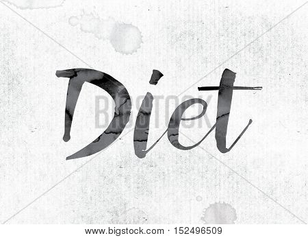 Diet Concept Painted In Ink