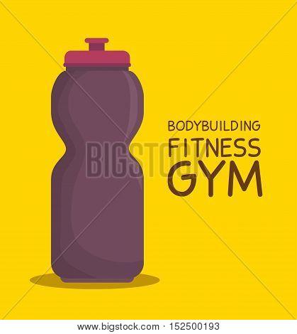 bottle water bodybuilding fitness gym icon design vector illustration eps 10