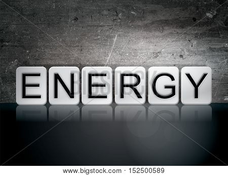 Energy Tiled Letters Concept And Theme