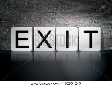 Exit Tiled Letters Concept And Theme