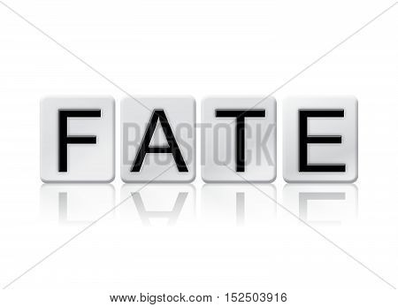 Fate Isolated Tiled Letters Concept And Theme