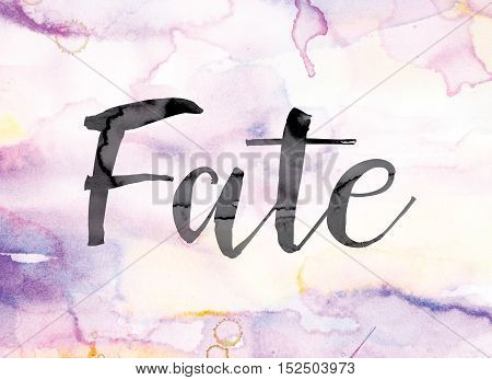 Fate Colorful Watercolor And Ink Word Art