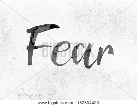 Fear Concept Painted In Ink