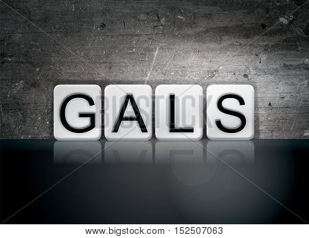 Gals Tiled Letters Concept And Theme