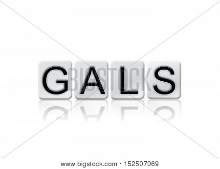 Gals Isolated Tiled Letters Concept And Theme